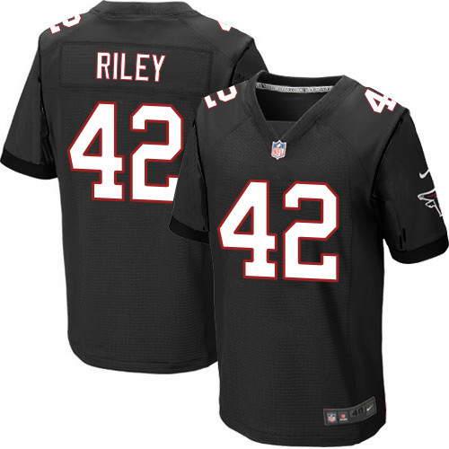 Men's Nike Atlanta Falcons #42 Duke Riley Black Alternate Stitched NFL Elite Jersey