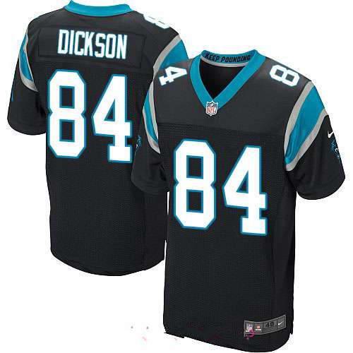 Men's Nike Carolina Panthers #84 Ed Dickson Black Stitched NFL Elite Jersey