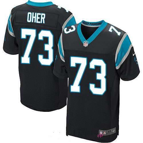 Men's Nike Carolina Panthers #73 Michael Oher Black Team Color Stitched NFL Elite Jersey