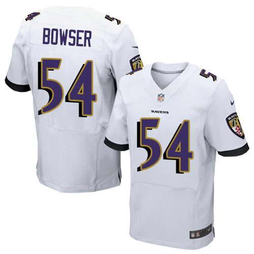 Men's Nike Baltimore Ravens #54 Tyus Bowser White Stitched NFL New Elite Jersey