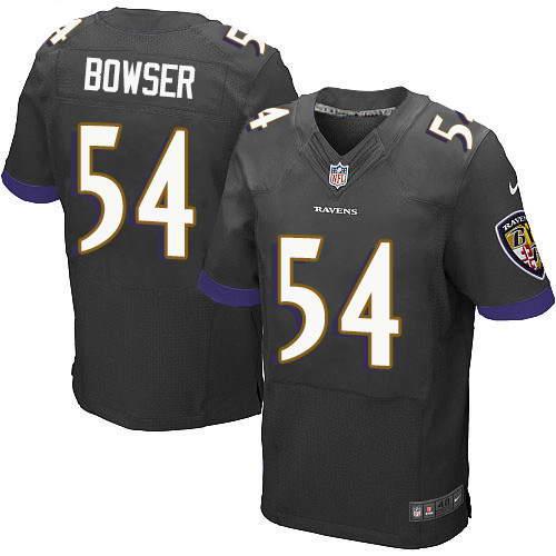 Men's Nike Baltimore Ravens #54 Tyus Bowser Black Alternate Stitched NFL New Elite Jersey
