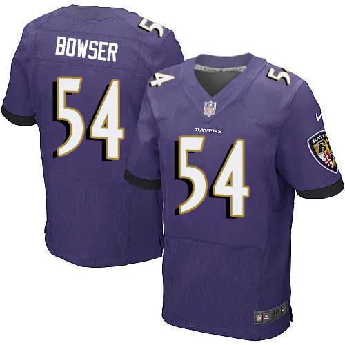 Men's Nike Baltimore Ravens #54 Tyus Bowser Purple Stitched NFL New Elite Jersey