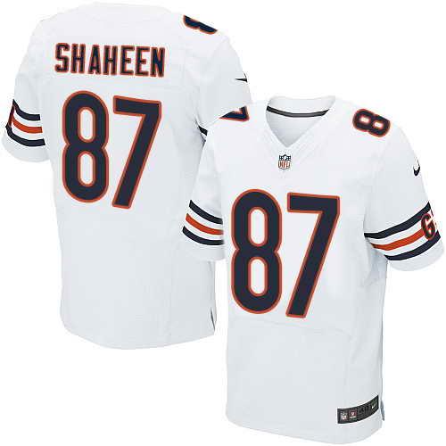 Men's Nike Chicago Bears #87 Adam Shaheen White Stitched NFL Elite Jersey