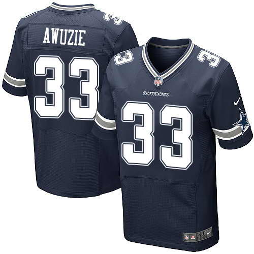 Men's Nike Dallas Cowboys #33 Chidobe Awuzie Navy Blue Team Color Stitched NFL Elite Jersey