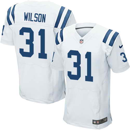 Men's Nike Indianapolis Colts #31 Quincy Wilson White Stitched NFL Elite Jersey