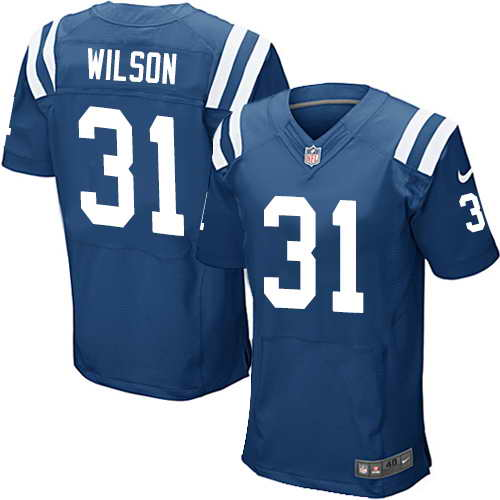 Men's Nike Indianapolis Colts #31 Quincy Wilson Royal Blue Team Color Stitched NFL Elite Jersey
