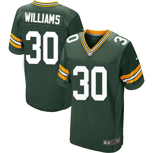 Men's Nike Green Bay Packers #30 Jamaal Williams Green Stitched NFL New Elite Jersey
