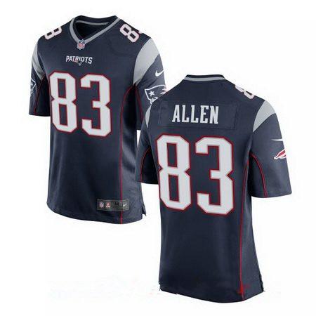 Men's Nike New England Patriots #83 Dwayne Allen Navy Blue Team Color Stitched NFL Elite Jersey