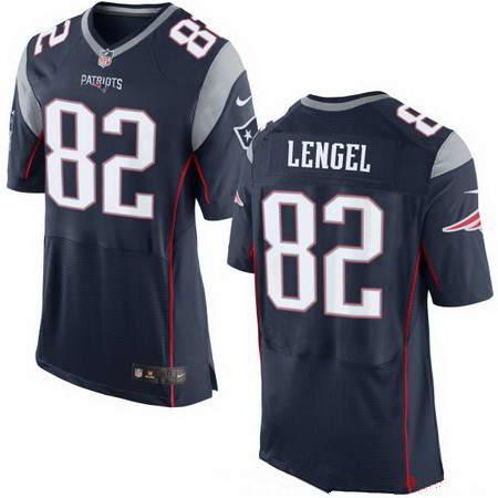 Men's Nike New England Patriots #82 Matt Lengel Navy Blue Team Color Stitched NFL Elite Jersey