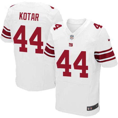 Men's Nike New York Giants #44 Doug Kotar White Stitched NFL Elite Jersey