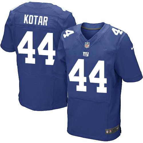 Men's Nike New York Giants #44 Doug Kotar Royal Blue Team Color Stitched NFL Elite Jersey