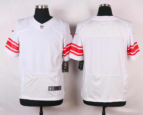 Men's Nike New York Giants Blank White NFL Elite Jersey