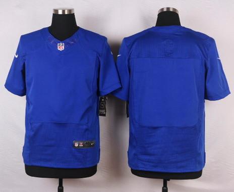 Men's Nike New York Giants Blank Royal Blue Team Color NFL Elite Jersey