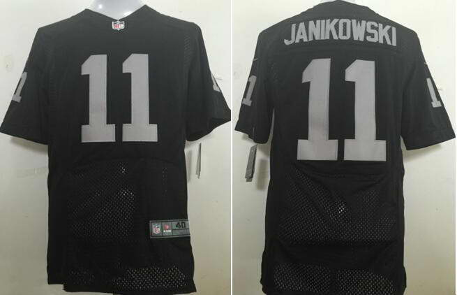 Men's Nike Oakland Raiders #11 Sebastian Janikowski Black Team Color Stitched NFL New Elite Jersey