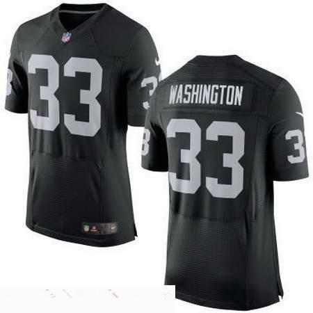 Men's Nike Oakland Raiders #33 DeAndre Washington Black Team Color Stitched NFL New Elite Jersey