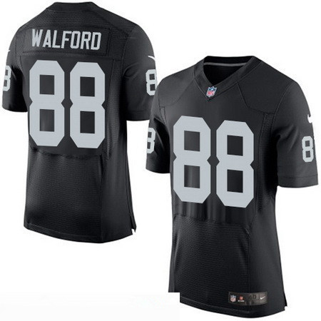 Men's Nike Oakland Raiders #88 Clive Walford Black Team Color Stitched NFL New Elite Jersey