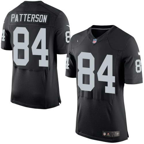 Men's Nike Oakland Raiders #84 Cordarrelle Patterson Black Team Color Stitched NFL New Elite Jersey