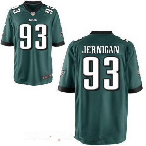 Men's Nike Philadelphia Eagles #93 Timmy Jernigan Midnight Green Team Color Stitched Elite Jersey
