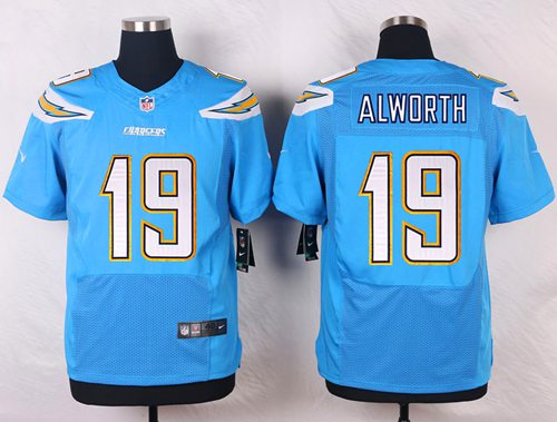 Men's Nike San Diego Chargers #19 Lance Alworth Electric Blue Alternate Stitched NFL New Elite Jersey