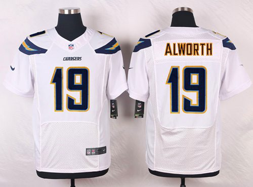 Men's Nike San Diego Chargers #19 Lance Alworth White Stitched NFL New Elite Jersey