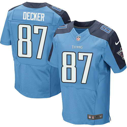 Men's Nike Tennessee Titans #87 Eric Decker Light Blue Team Color Stitched NFL Elite Jersey