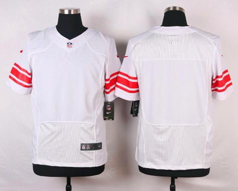 Nike Men's New York Giants Blank White Road NFL Elite Jersey