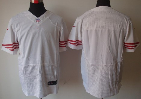 Nike Men's San Francisco 49ers Blank White Road NFL Elite Jersey