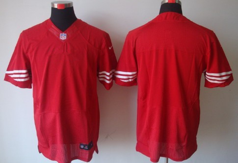 Nike Men's San Francisco 49ers Blank Red NFL Elite Jersey