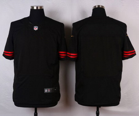 Nike Men's San Francisco 49ers Blank Black NFL Elite Jersey
