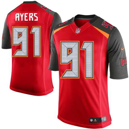 Nike Men's Tampa Bay Buccaneers #91 Robert Ayers Red Team Color NFL Elite Jersey