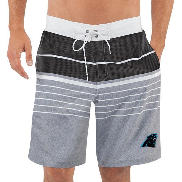 Men's Carolina Panthers G-III Sports by Carl Banks Heathered GrayBlack Balance Quick Dry Swim Trunks