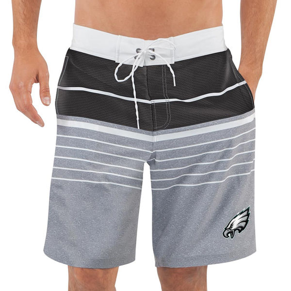 Men's Philadelphia Eagles G-III Sports by Carl Banks Heathered GrayBlack Balance Quick Dry Swim Trunks