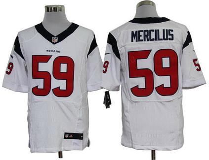 Size 60 4XL  Houston Texans  Whitney Mercilus #59 White Stitched Nike NFL Elite Jersey