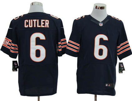 Size 60 4XL Chicago Bears #6 Size 60 4XL Jay Cutler Chicago Bears #6 Blue Stitched Nike Elite NFL Blue Stitched Nike Elite NFL Jersey