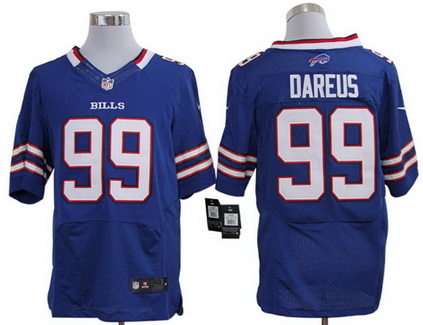 Size 60 4XL Buffalo Bills #99 Marcell Dareus Royal Blue Stitched Nike Elite NFL Jersey