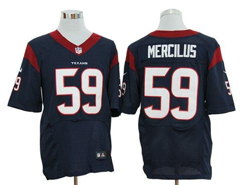Size 60 4XL  Houston Texans Whitney Mercilus #59 Navy Blue Stitched NFL Nike Elite Jersey