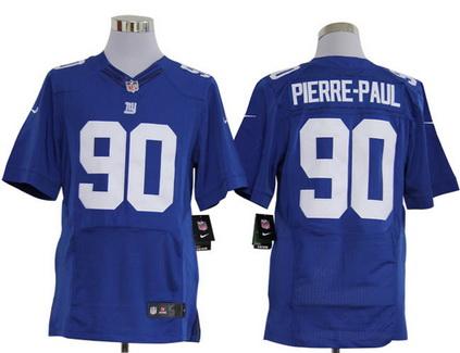 Size 60 4XL New York Giants #90 Jason Pierre-Paul Blue Stitched Nike Elite NFL Jersey