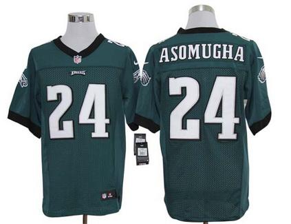 Size 60 4XL Philadelphia Eagles #24 Nnamdi Asomugha Green Stitched NFL Nike Elite Jersey