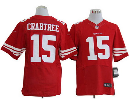Size 60 4XL San Francisco 49ers #15 Michael Crabtree Red Stitched NFL Nike Elite Jersey