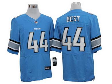 Size 60 4XL Detroit Lions #44 Jahvid Best Blue Stitched Aliternate Nike Elite NFL Jersey