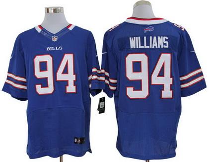 Size 60 4XL Buffalo Bills #94 Mario Williams Royal Blue Stitched Nike Elite NFL Jersey