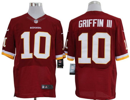 Size 60 4XL Washington Redskins #10 Robert Griffin III Red Stitched Nike Elite Jersey