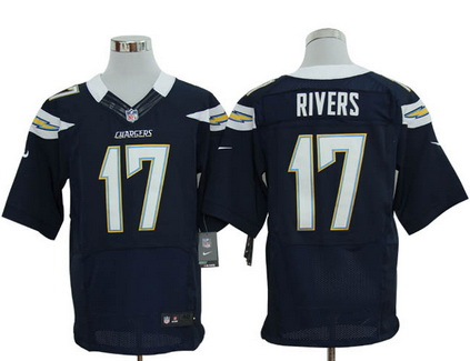 Size 60 4XL San Diego Chargers #17 Philip Rivers Dark Blue Stitched Nike Elite Jersey