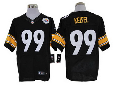 Size 60 4XL Pittsburgh Steelers Brett Keisel #99 Black Stitched Nike Elite NFL Jersey