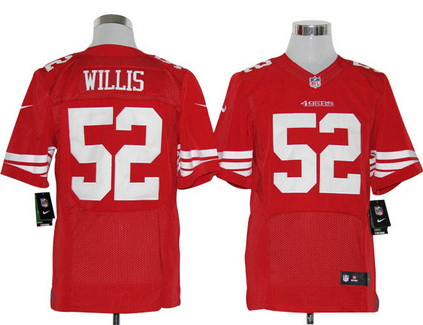 Size 60 4XL San Francisco 49ers #52 Patrick Willis Red Stitched Nike Elite NFL Jersey