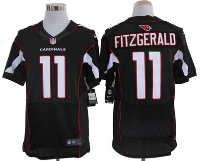 Size 60 4XL Arizona Cardinals #11 Larry Fitzgerald Black Stitched Nike Elite NFL Jersey