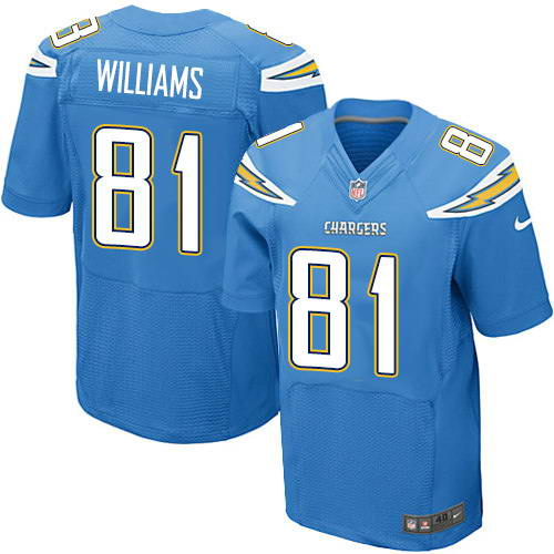 Nike Men's Los Angeles Chargers #81 Mike Williams Electric Blue Alternate Stitched NFL New Elite Jersey