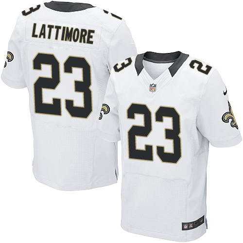 Nike Men's New Orleans Saints #23 Marshon Lattimore White Men's Stitched NFL Elite Jersey