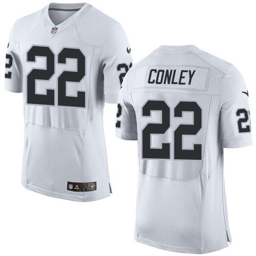 Nike Men's Oakland Raiders #22 Gareon Conley White Stitched NFL New Elite Jersey