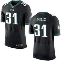 Nike Men's Philadelphia Eagles #31 Jalen Mills Black Alternate Stitched NFL New Elite Jersey